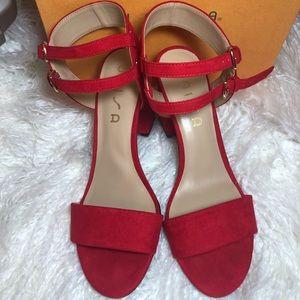 UNISA Red Block heels